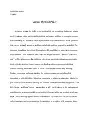 Critical Thinking Paper (Comm 40).docx
