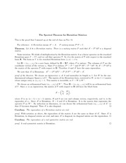 The Spectral Theorem for Hermitian Matrices