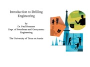 Topic 1 Drilling – The Process