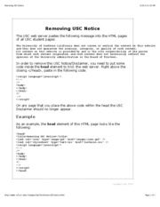 Removing USC Notice