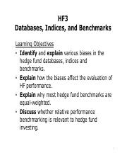 HF3_Databases_Indices_Benchmarks