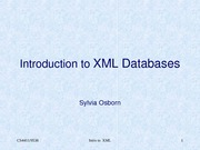 set 6 - XML DB intro