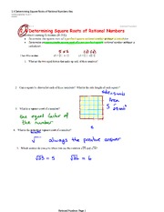 Determining Square Roots of Rational Numbers Solutions