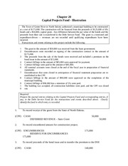 Ch 20 Capital Project Fund Example Solution