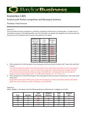 competition and monopoly exercises sol