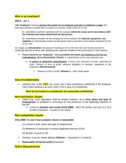 Summary for the Final Exam for Contrat d'Emploi