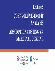 Lecture 5 - CVP Analysis - Absorption Costing vs. Marginal Costing.pdf