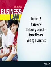 Lecture 8 Enforcing Deals II - Remedies and Ending a Contract Cheryl Choong.pptx