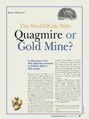 The world wide web quagmire or gold mine
