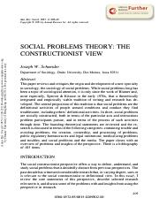 Social problem theory the construction view.pdf