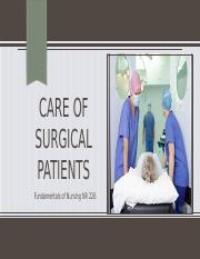 Fundamentals NR 226 Care of Surgical Patients student copy (1).pptx