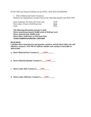 ECON 10B Extra Problems for the final ANSWERS
