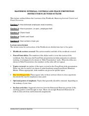 Mastering Internal Controls Lecture Outline.doc