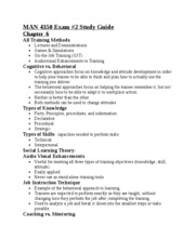 Updated EXAM 2 STUDY GUIDE MAN 4350