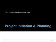Ch5 - Planning- Project Initiation & Planning