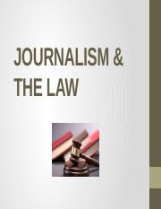 JOURNALISM & THE LAW
