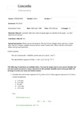 Chemistry 206 final exam - winter 98