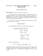 Lecture 13 on Quantum Mechanics