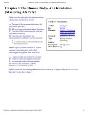 Flashcards - Chapter 1 The Human Body- An Orientation (Mastering A&P).pdf