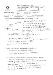Math 119 2006-2007 Spring MidRetm2 Solutions