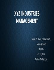 XYZ Industries management WEEK5.pptx