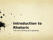 Intro Rhetoric
