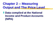ECN 302-602 (2), Measuring Output and the Price Level