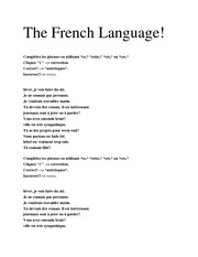 Adanced French Grammar