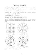 Vector Fields problems study guide