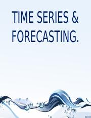 UNIT IV - Time Series and Forecasting.
