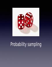 Lecture 10- Probability Samples post