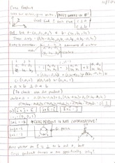 Lecture - Cross Product