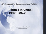 Politics in China