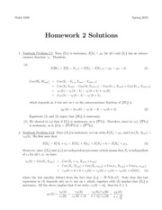 Homework #2 with Solutions
