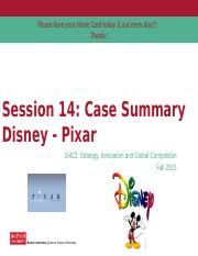 Lecture 14 - Corporate Strategy (Disney:Pixar Case).pptx