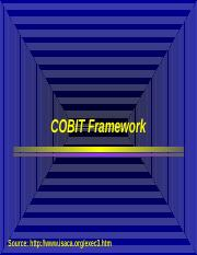 Week 2 COBIT Framework