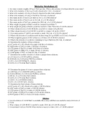 Printables Molarity Worksheet Answers 001 molarity worksheet with answers 2 1 sea water