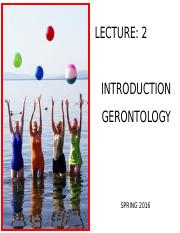 Lecture 2 _C2g_Introduction to Gerontology
