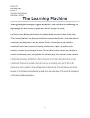 The Learning Machine - Video Assignment.docx