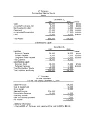 ACIS 2116 Chapter 16 Statement of Cash Flows Example