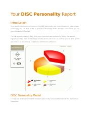 BUS370 Your DISC Personality Report.docx
