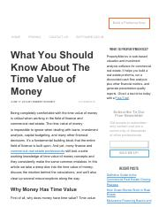 What You Should Know About The Time Value of Money.pdf