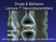 D&B 2141 Lecture 7_Neurotransmitters