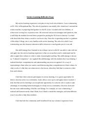 service learning Reflective Essay.doc