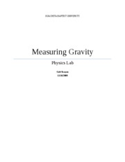 Measuring Gravity