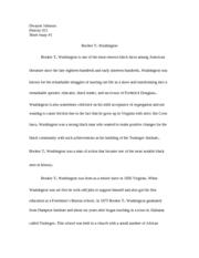 short essay on booker t washington Booker t washington vs web dubois dbq essay  discrimination includes booker t washington and  on long term rewards rather than short term.