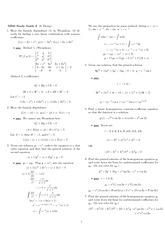 Exam 2 Study Guide Solution Fall 2007 on Differential Equations with Linear Algebra 1