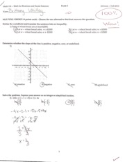 Exam 1 Example with Answers