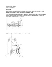 Exam 1 Version 1 Fall 2012 on Statics
