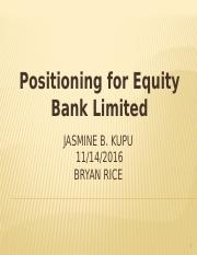 Positioning for Equity Bank.pptx